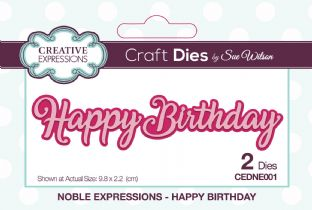 Noble Expressions Collection - Happy Birthday Die